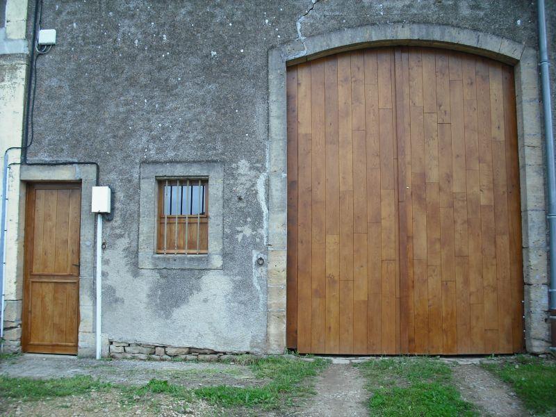 Porte de grange en ch ne menuiserie potier tristan for Porte de grange ancienne
