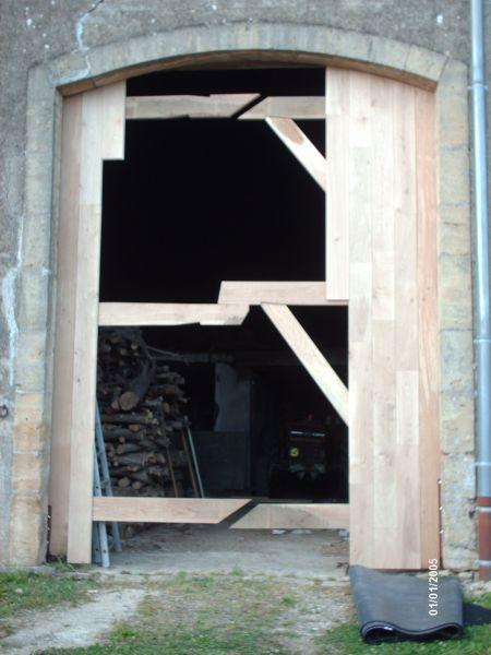 Porte de grange en ch ne menuiserie potier tristan - Fabriquer une porte de grange ...